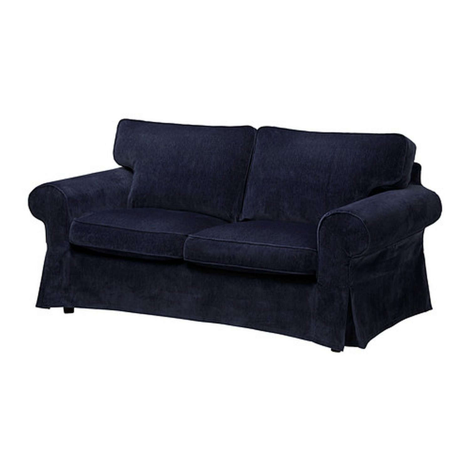 Ikea ektorp 2 seat sofa slipcover loveseat cover vellinge dark blue Couch and loveseat covers
