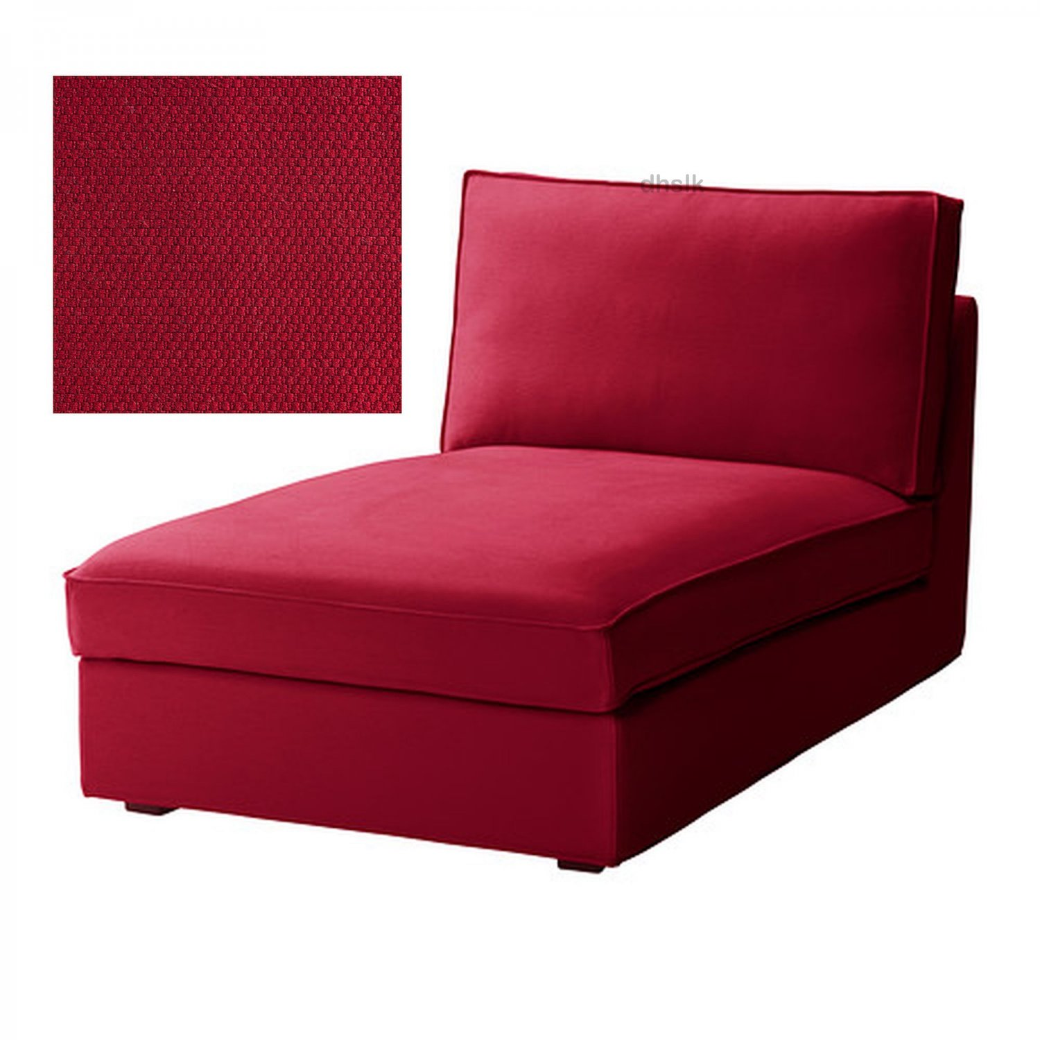 Ikea kivik chaise slipcover cover dansbo medium red bezug for Chaise lounge covers cotton