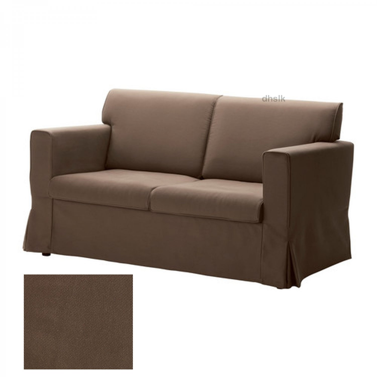 Ikea sandby 2 seat sofa slipcover loveseat cover blekinge brown Cover for loveseat