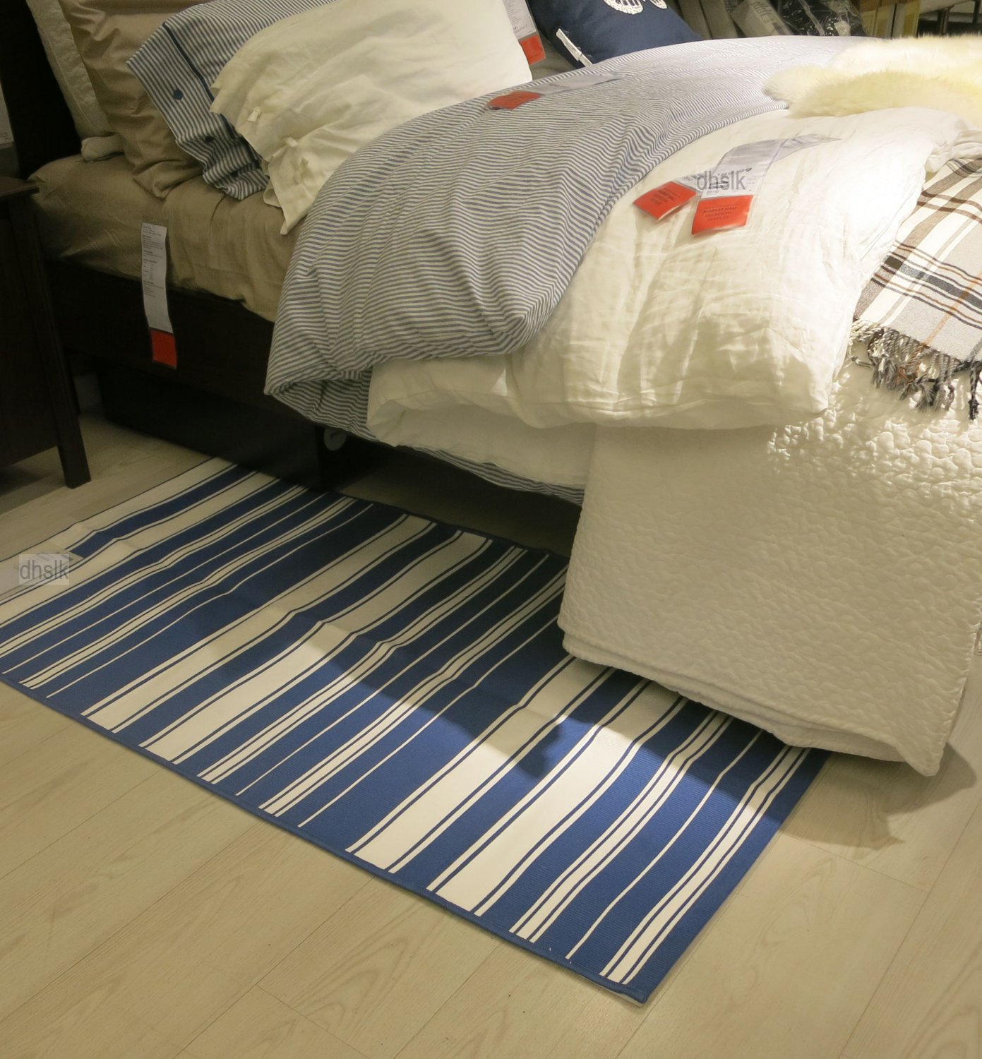 Ikea Kitchen Rugs Canada: IKEA ALSLEV BLUE White STRIPES Area Throw RUG MAT
