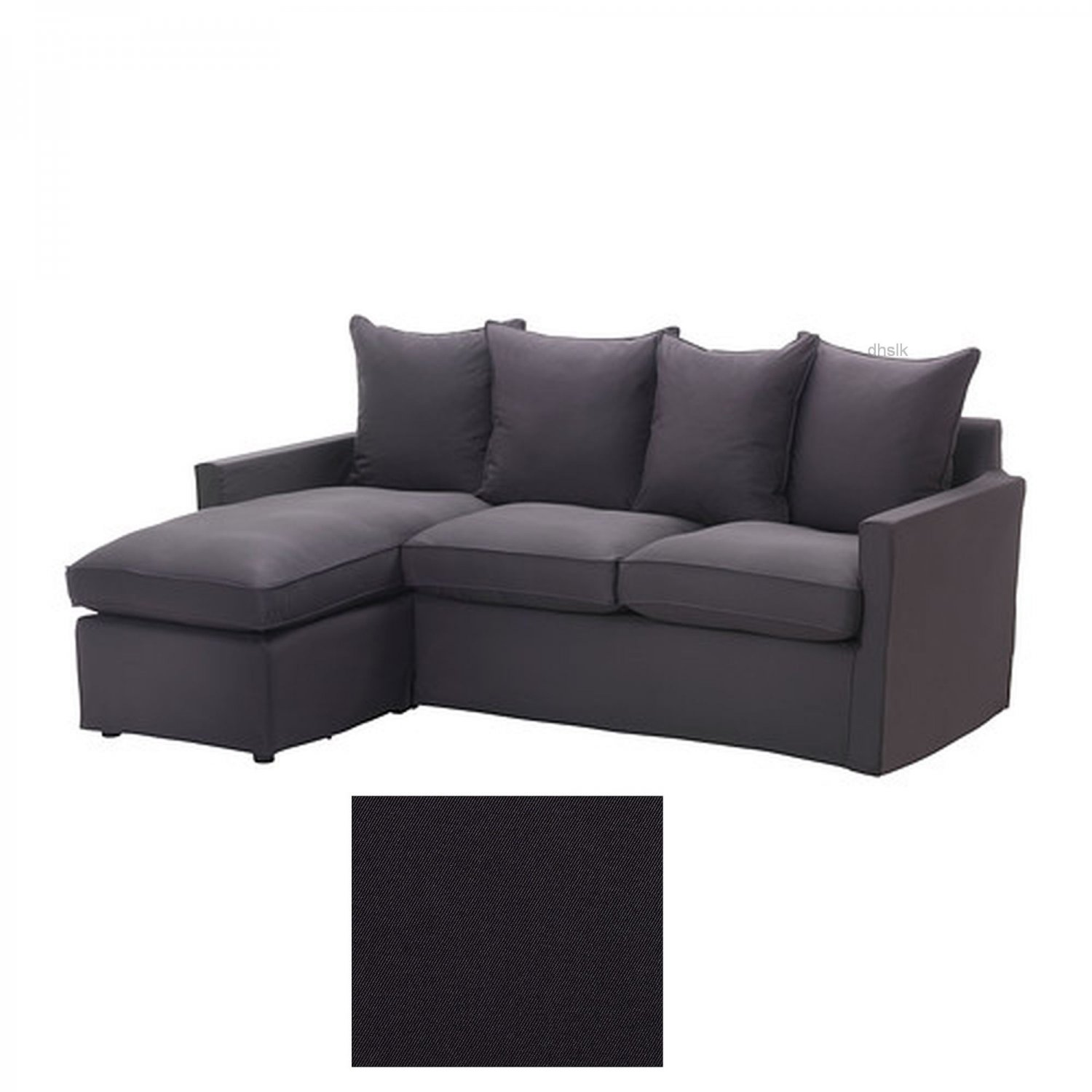 Ikea harnosand 2 seat loveseat sofa with chaise slipcover for Chaise couch cover