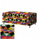 IKEA KLIPPAN Loveseat Sofa SLIPCOVER Cover RANDVIKEN Multicolor LIMITED EDITION Diamond