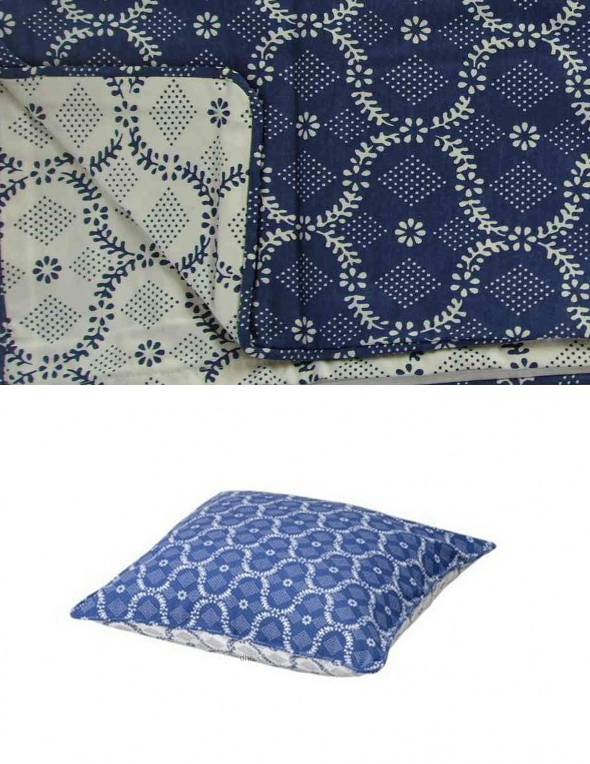 Ikea ALVINE FIGUR PILLOW SHAM Cushion Cover BLUE White ROMANTIC Country