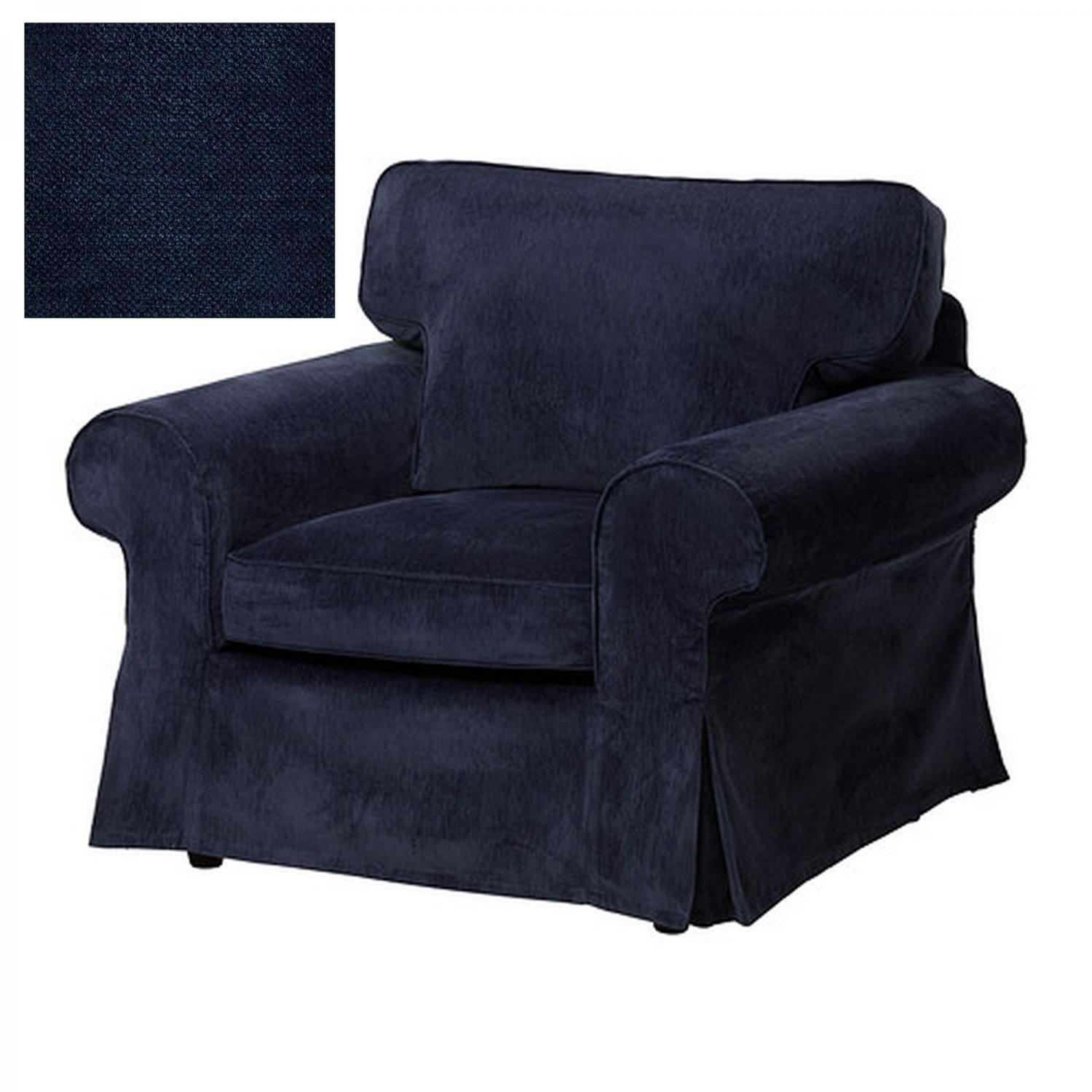 Ikea Ektorp Armchair Slipcover Chair Cover Vellinge Dark Blue