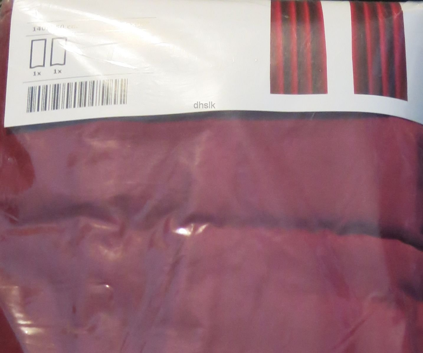 "IKEA SANELA CURTAINS Drapes 2 Panels DARK PINK VELVET  98"" Grommet Eyelet Top"
