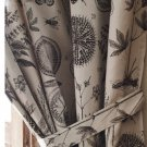 "IKEA BLÅVINGE CURTAINS with Tie-Backs BEIGE Brown BOTANICAL 98"" Blavinge DRAPES"
