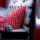 IKEA DUKEN QUEEN Headboard COVER Padded IDSE Multicolor RED