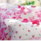 IKEA EMELINA KNOPP KING Duvet COVER Set PINK ROSEBUDS Roses Romantic Floral