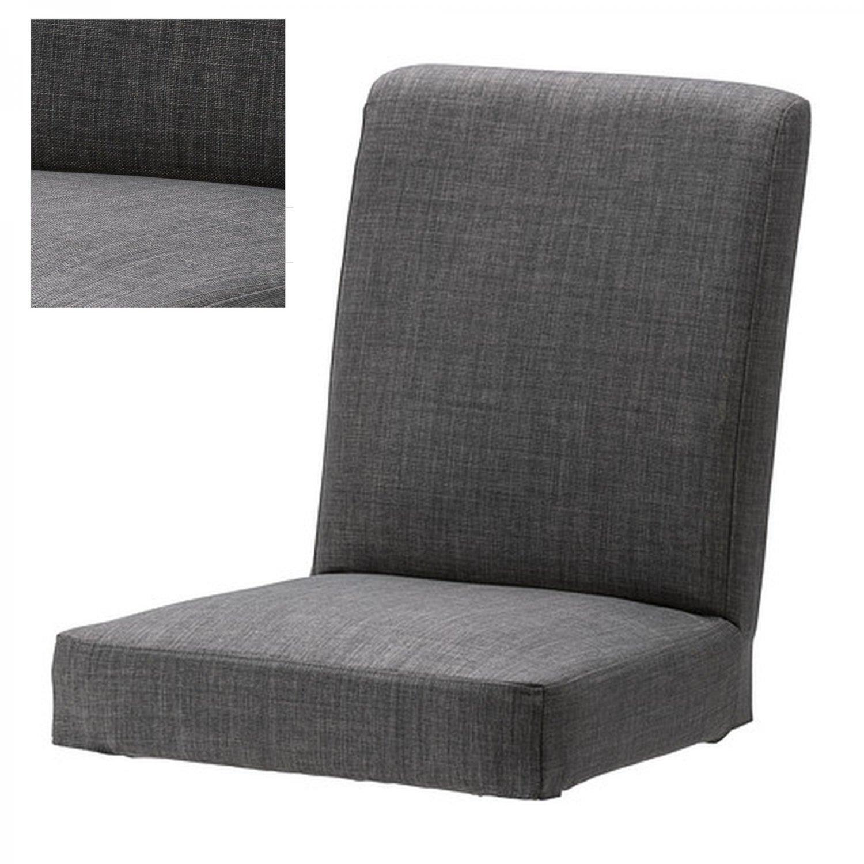 ikea henriksdal skiftebo chair slipcover cover 21 54cm gray grey. Black Bedroom Furniture Sets. Home Design Ideas