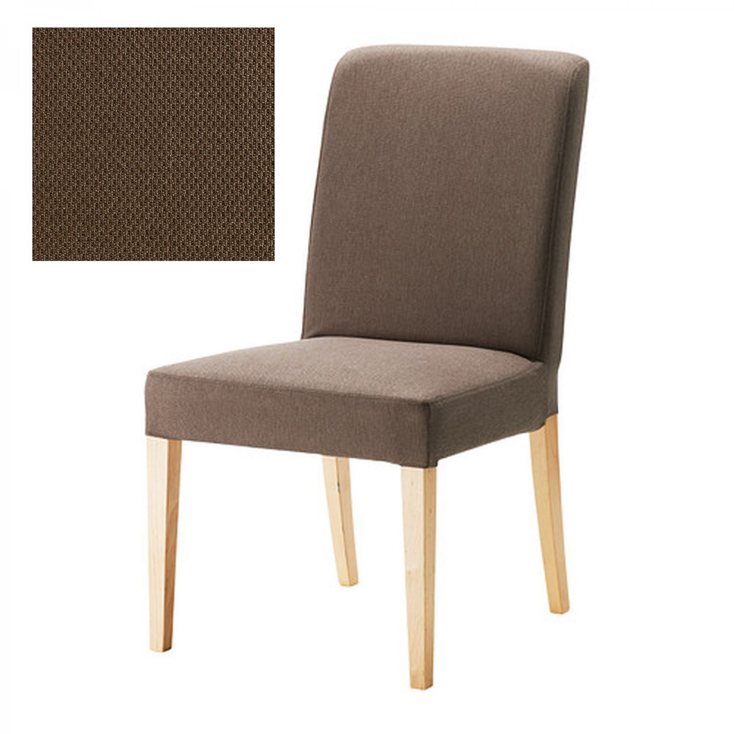 ikea henriksdal chair slipcover cover 21 54cm dansbo medium brown. Black Bedroom Furniture Sets. Home Design Ideas