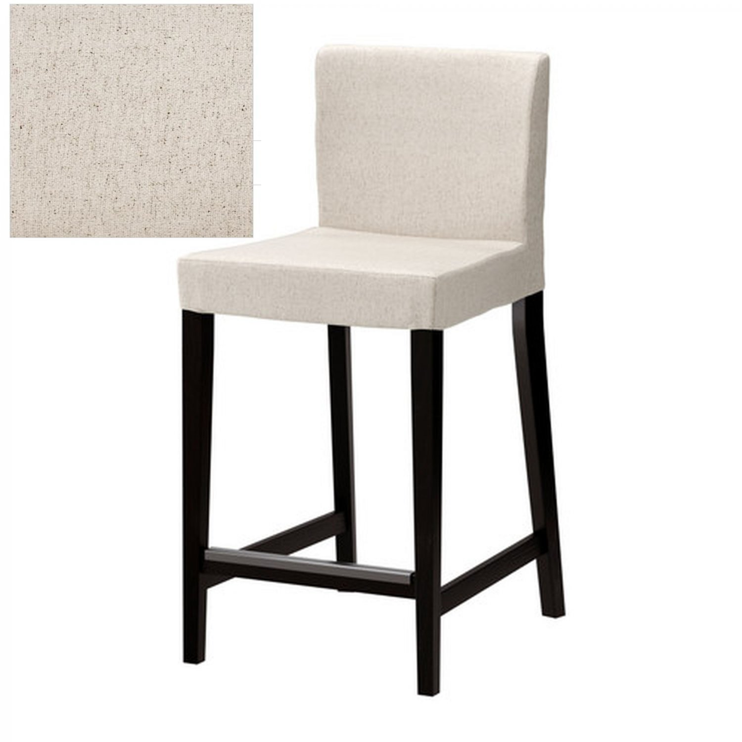ikea henriksdal linneryd natural bar stool slipcover barstool cover 19 48cm beige. Black Bedroom Furniture Sets. Home Design Ideas