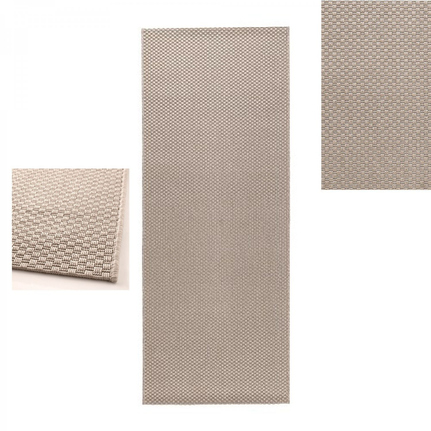 Ikea morum indoor outdoor area rug runner carpet beige for Indoor outdoor runners rugs