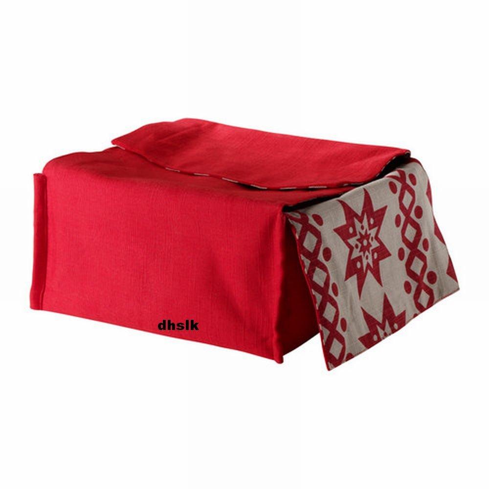 IKEA SN�BOLL BREAD BASKET Storage RED Beige REVERSIBLE Snoboll
