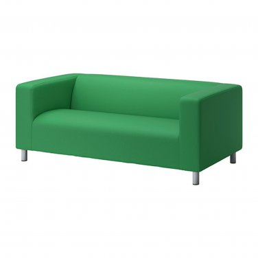 Ikea klippan loveseat sofa slipcover cover vissle green Klippan loveseat covers