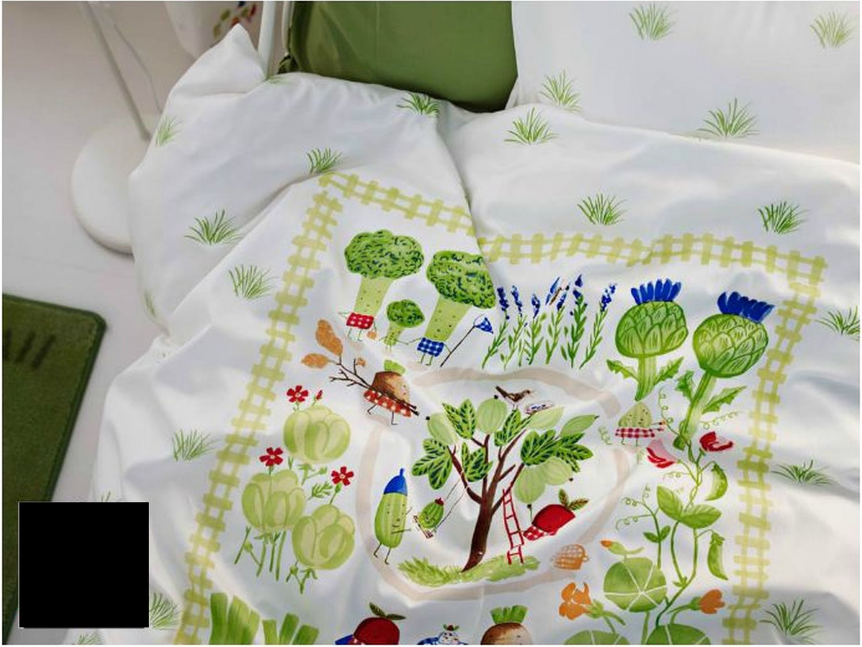 IKEA TORVA TRADGARD Duvet COVER Pillowcase Set VEGETABLE Patch ...