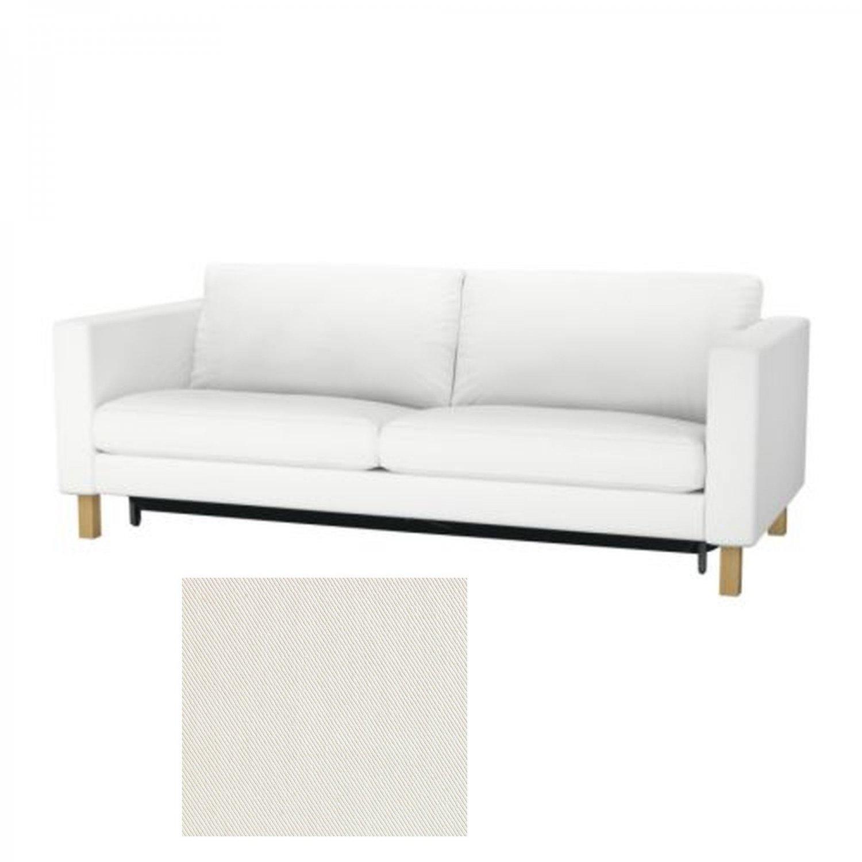 Ikea KARLSTAD Sofa Bed SLIPCOVER Sofabed Cover BLEKINGE WHITE