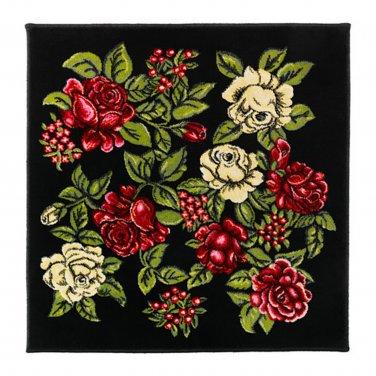 IKEA RYSSBY 2014 Bohemian Retro RUG Area Throw Mat LOW PILE Floral Multi