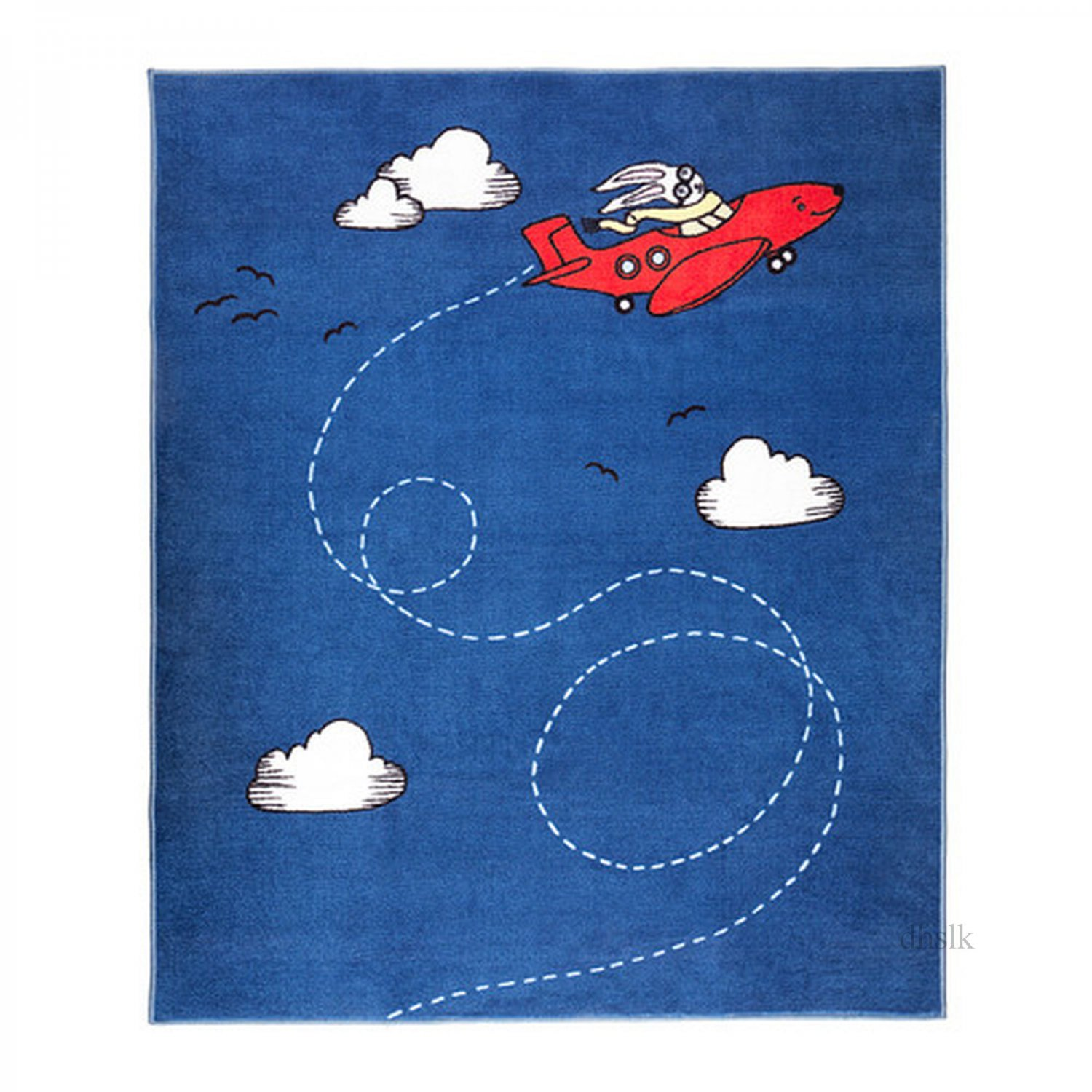 Ikea Rugs Childrens: IKEA FLYGTUR Area Throw RUG Mat BUE Kids Decor AIRPLANE