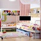 IKEA RUMMET Area Throw RUG Mat PINK Kids Decor Girl Dollhouse