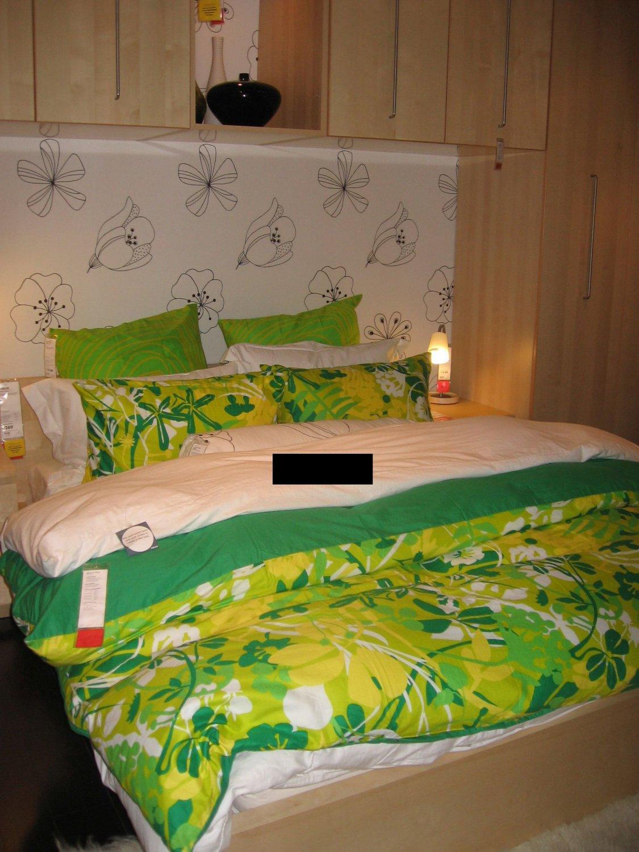 IKEA BIBBI BLAD Mod RETRO KING Duvet COVER Set TROPICAL GREEN