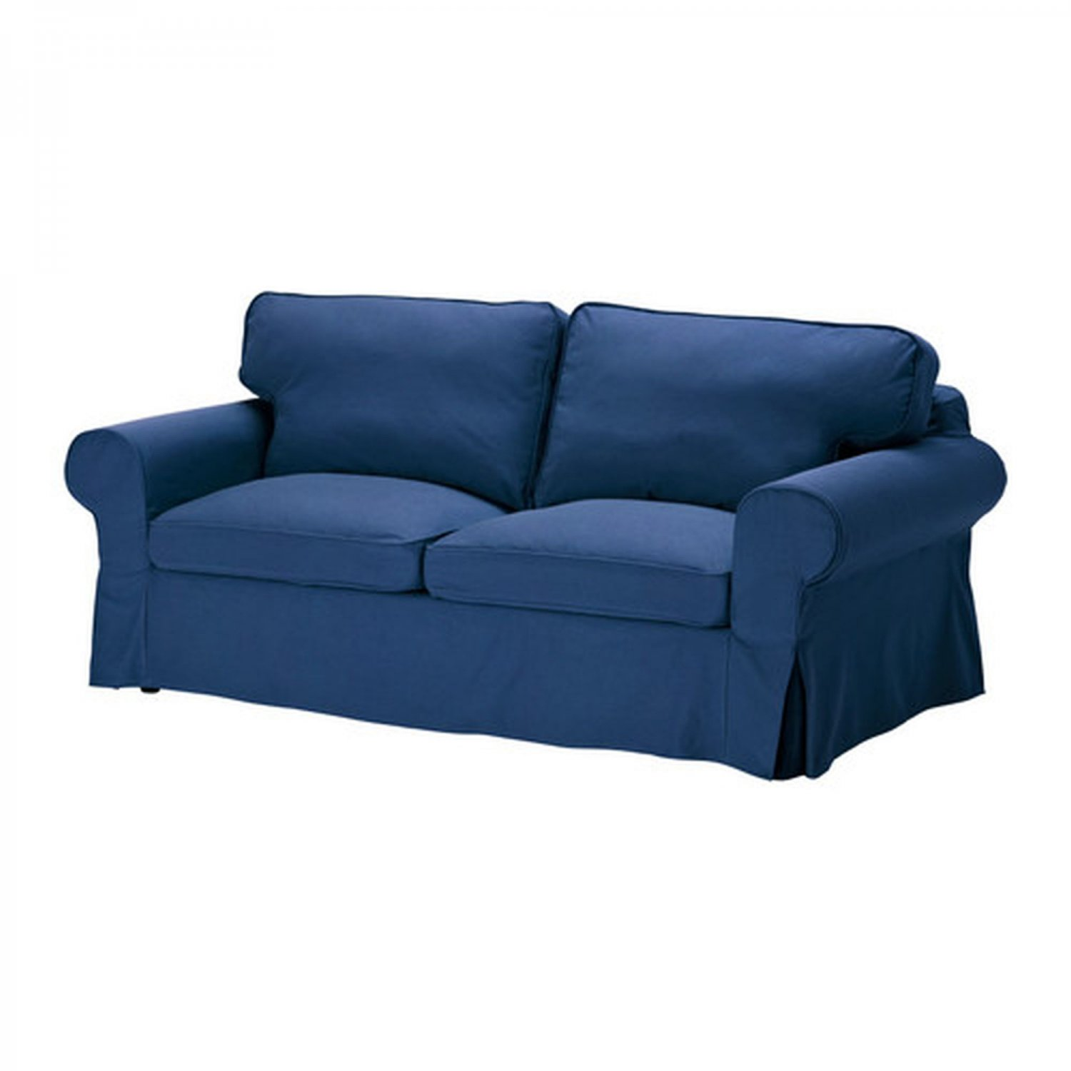 Ikea ektorp 2 seat sofa cover loveseat slipcover idemo blue Cover for loveseat