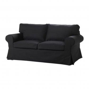 IKEA EKTORP Sofa Bed SLIPCOVER Sofabed Cover IDEMO BLACK Bezug Housse