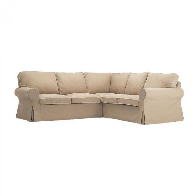 ikea ektorp 2 2 corner sofa cover slipcover idemo beige