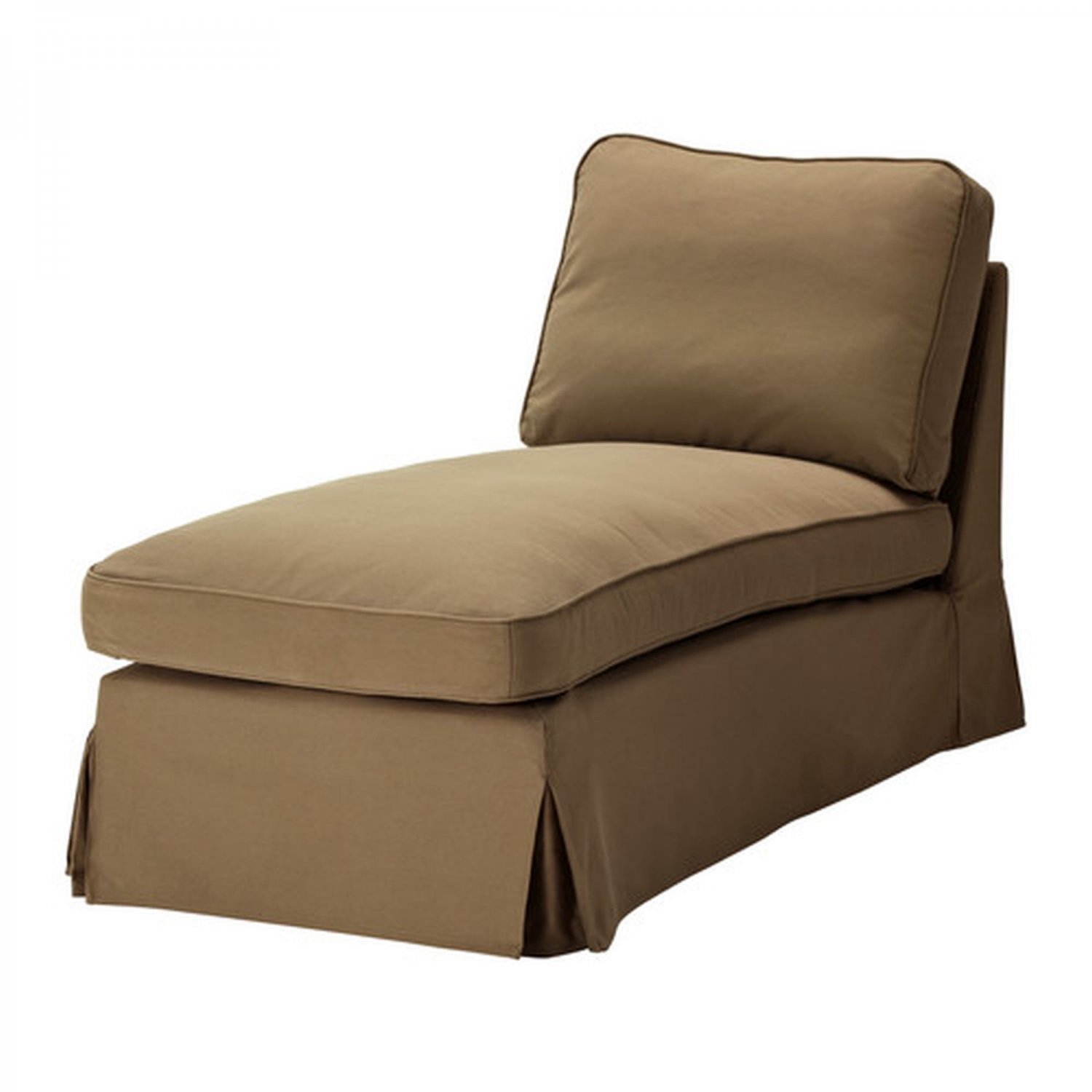 ikea ektorp free standing chaise cover slipcover idemo light brown. Black Bedroom Furniture Sets. Home Design Ideas