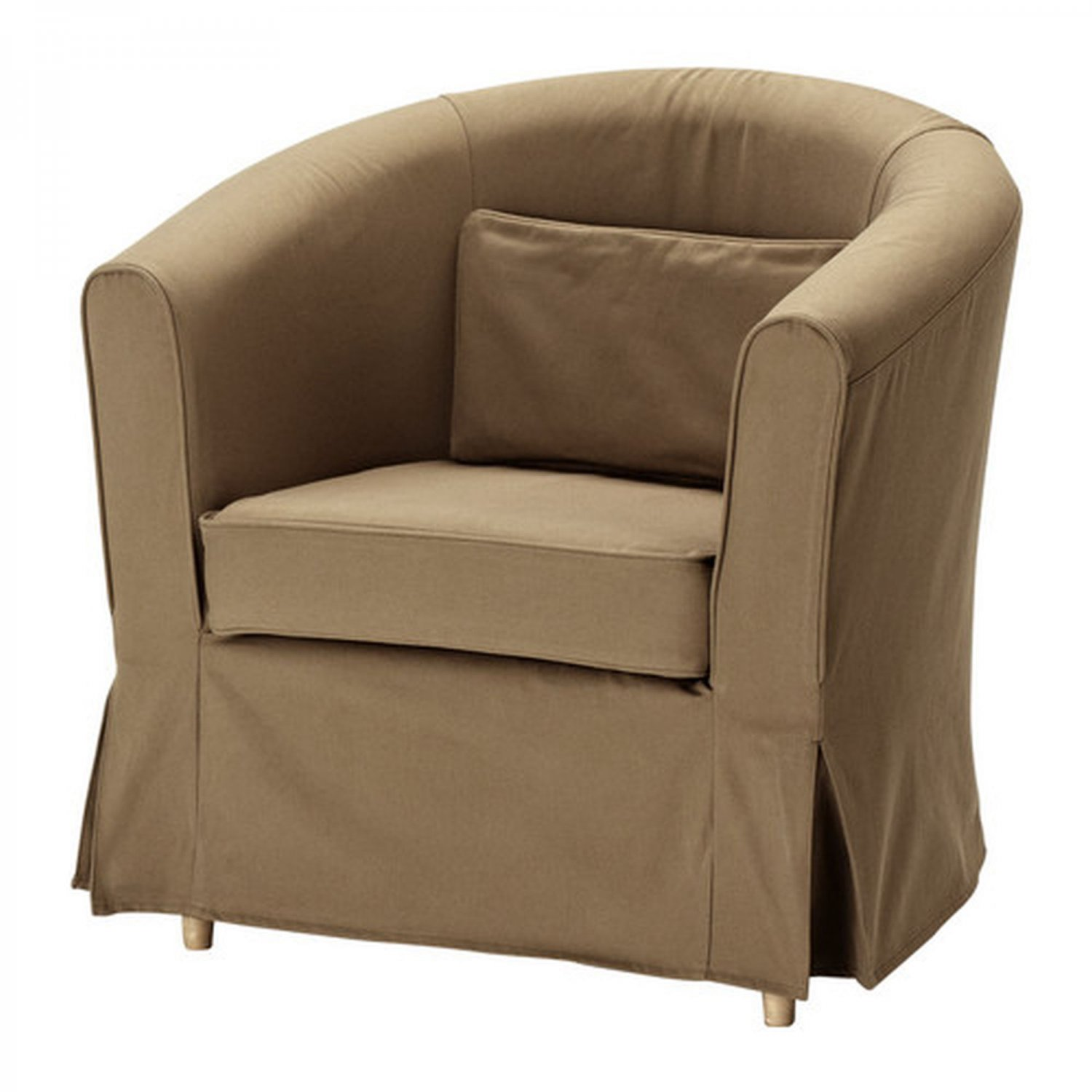 ikea ektorp tullsta armchair slipcover chair cover idemo light brown. Black Bedroom Furniture Sets. Home Design Ideas