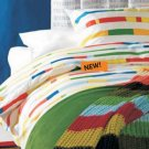 Ikea UNNI BJÖRK Bjork KING DUVET COVER Set RETRO Modern COLOR BAND