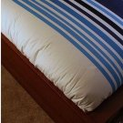 IKEA ETHEL Stripes KING Duvet COVER Pillowcases Set BLUE White