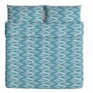 IKEA MALIN BLAD KING Duvet COVER Pillowcases Set BLUE Turquoise MOD
