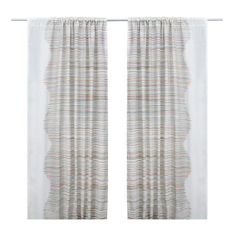 ikea malin trad curtains stripes lines midcentury tr d retro linen