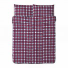 IKEA Snoa Rutan QUEEN Duvet COVER Set RED WHITE BLUE Plaid Tartan SNÖA Xmas Christmas Vinter