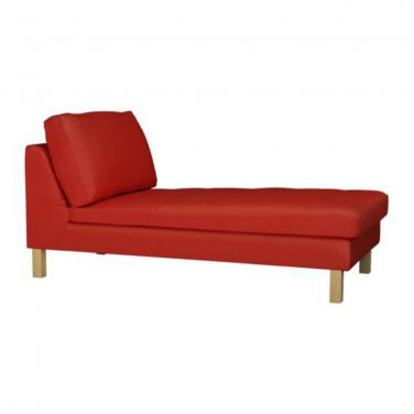 Ikea karlstad free standing chaise longue slipcover cover korndal red bezug - Ikea chaise stockholm ...
