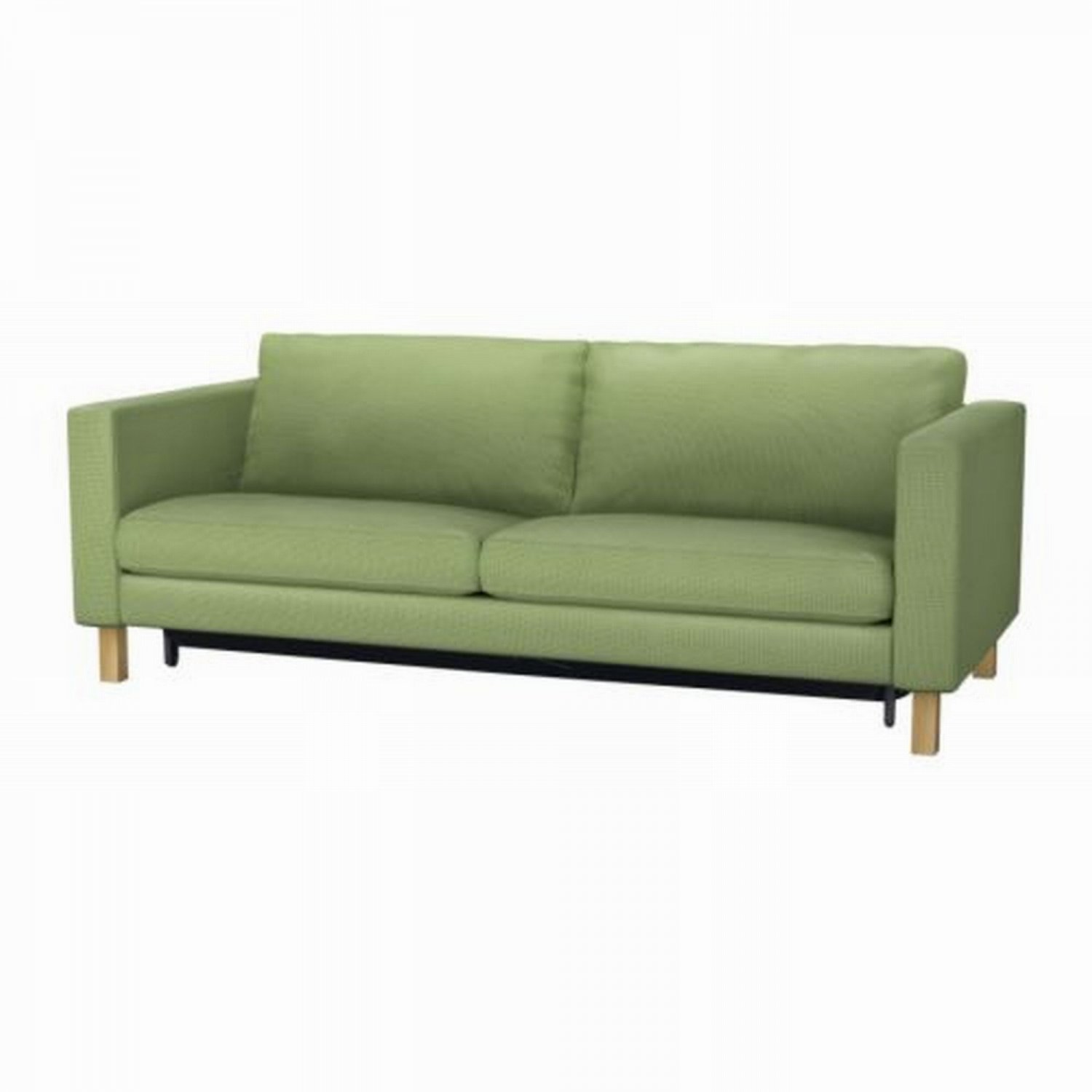 Ikea karlstad sofa bed sofabed slipcover cover korndal green Sleeper sofa covers