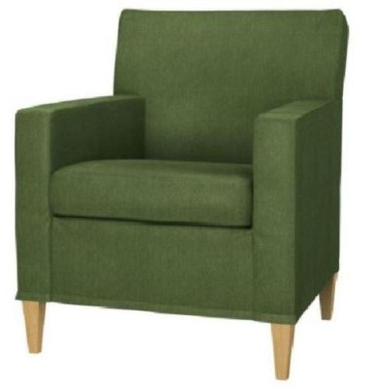 ikea karlstad chair slipcover armchair cover sivik dark green