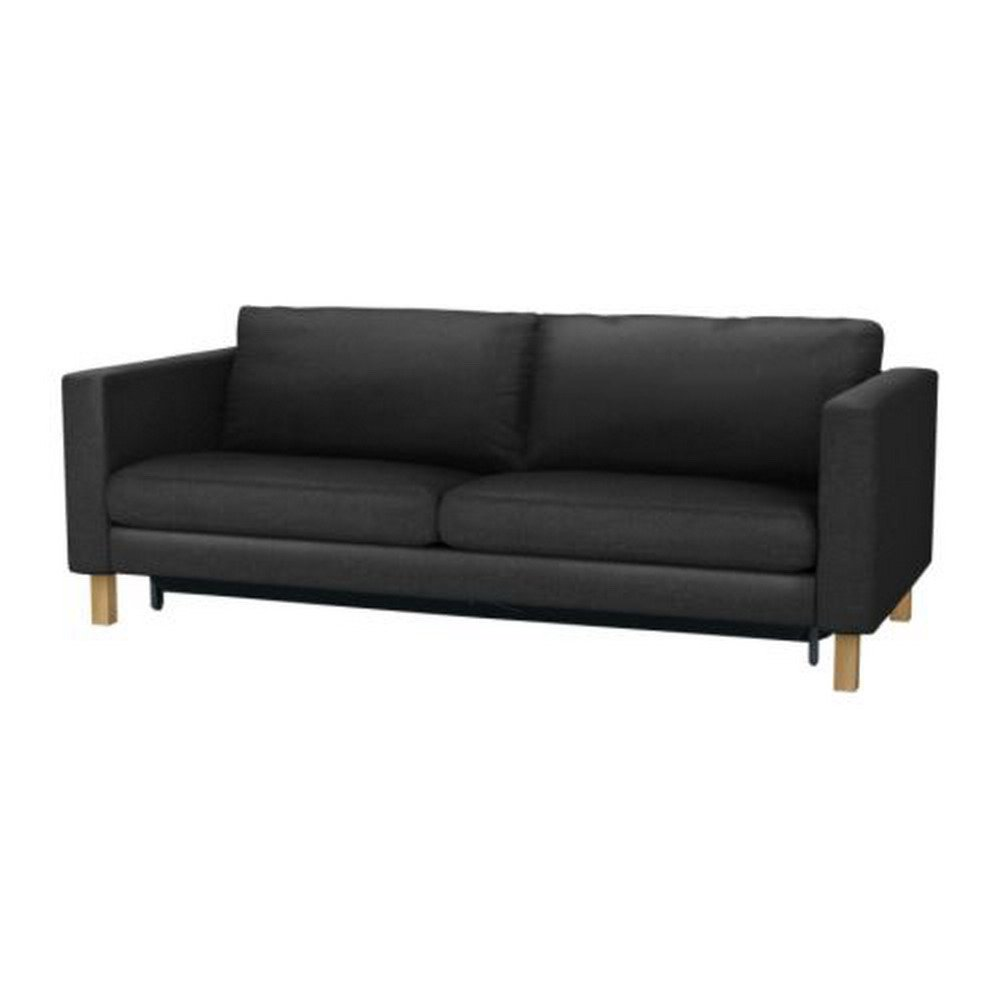 Ikea karlstad sofa bed slipcover sofabed cover ullevi dark Loveseat futon cover