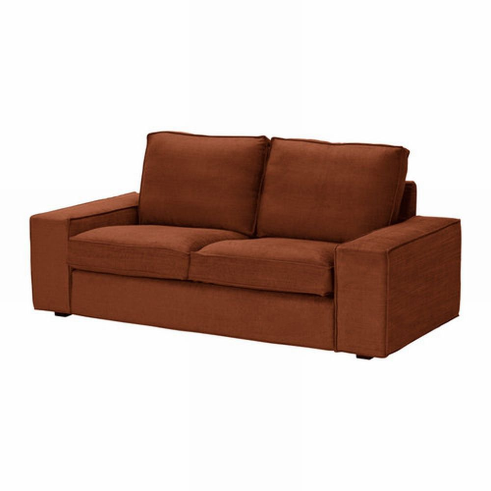 Ikea Kivik 2 Seat Sofa Slipcover Loveseat Cover Tullinge Rust Brown Bezug Housse