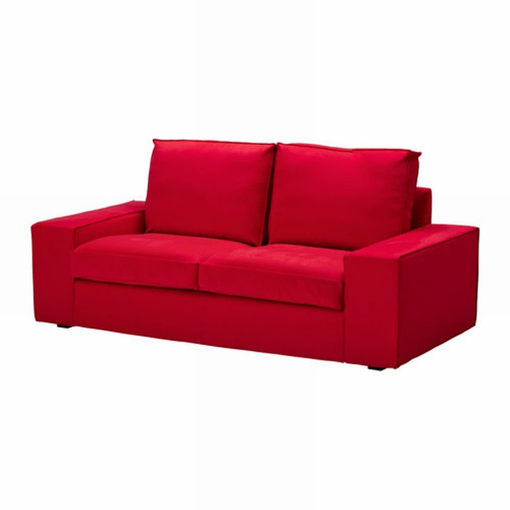 Ikea kivik loveseat slipcover 2 seat sofa cover ingebo bright red bezug housse Loveseat slip cover
