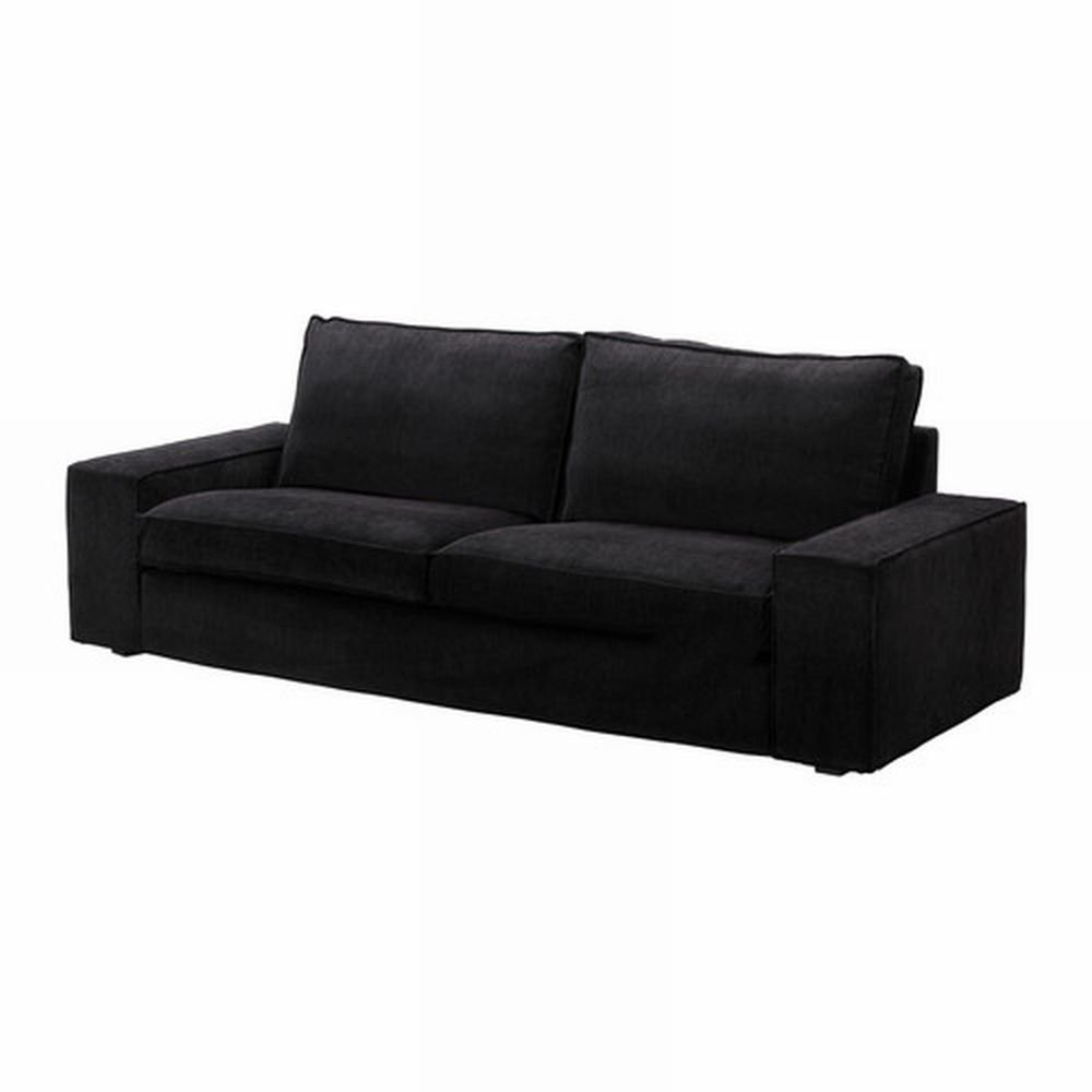 Ikea kivik sofa slipcover cover tranas black tran s bezug for Housse sofa ikea