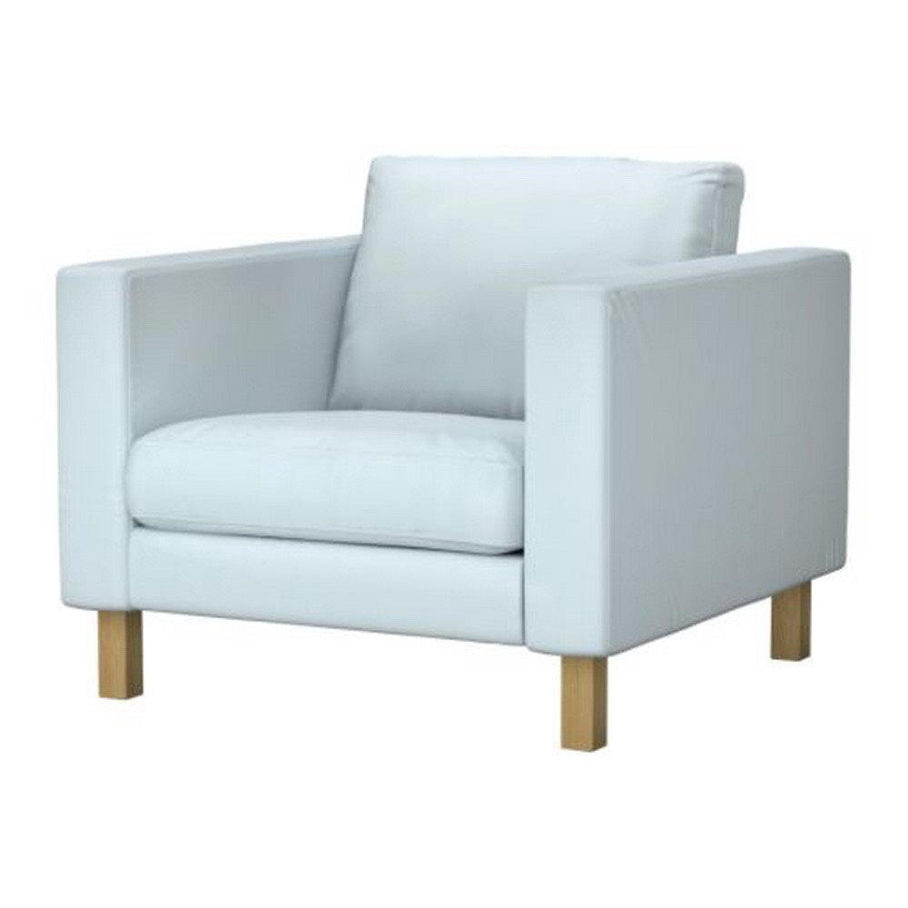 Ikea karlstad armchair slipcover chair cover sivik light blue