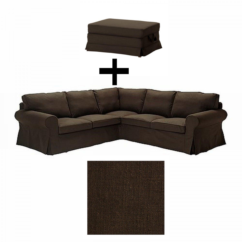 Ikea EKTORP 2+2 Corner Sofa And Bromma Footstool COVER