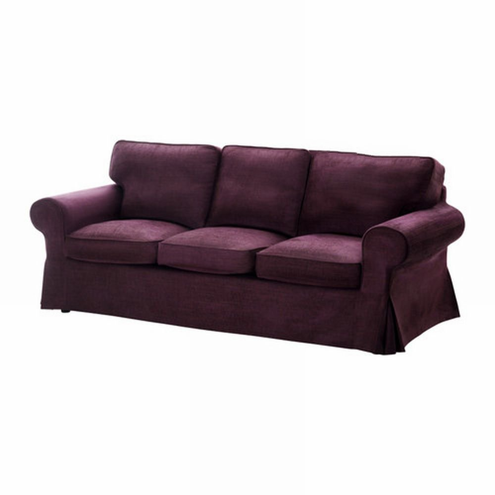 ikea ektorp 3 seat sofa cover slipcover tullinge lilac purple bezug housse. Black Bedroom Furniture Sets. Home Design Ideas
