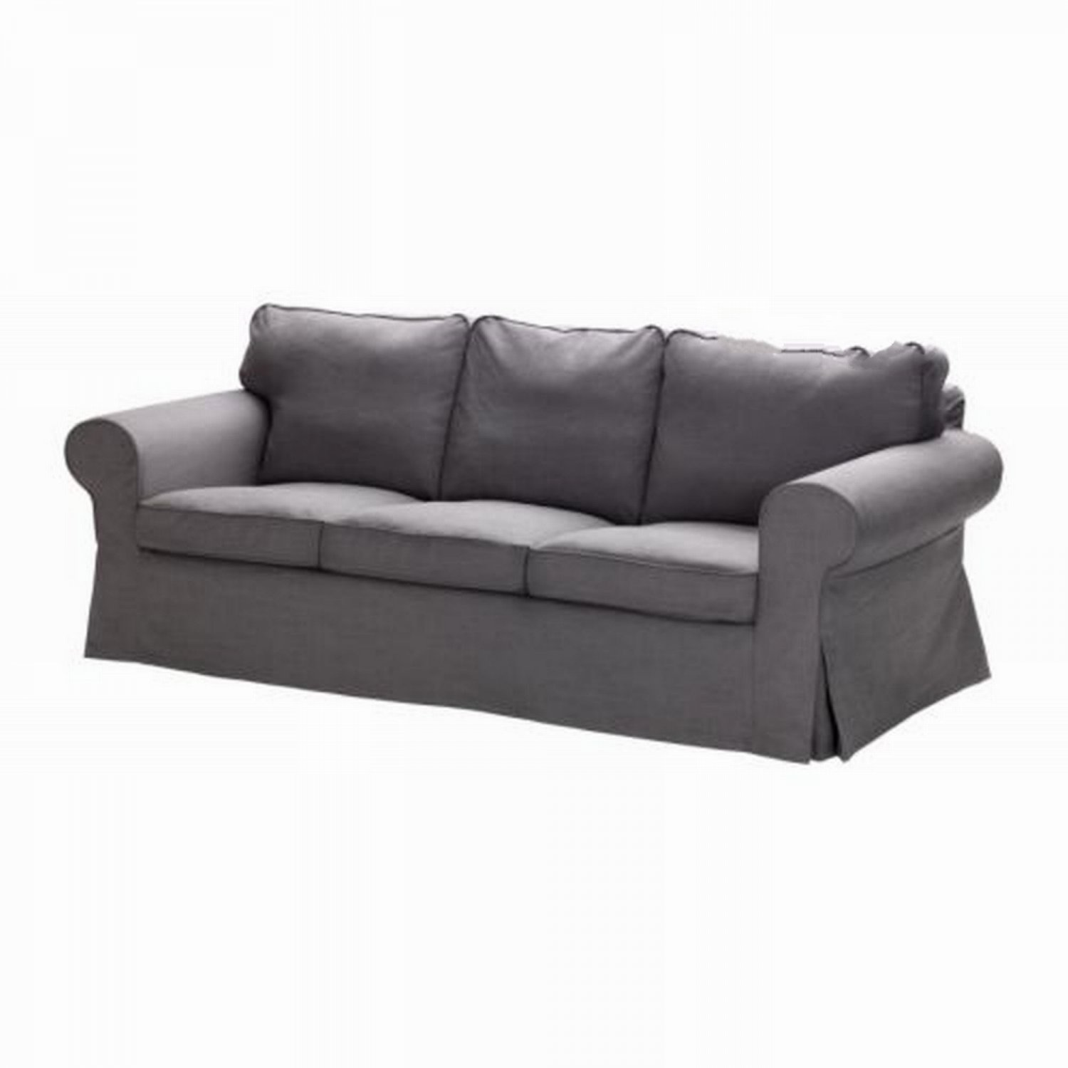 Ikea ektorp 3 seat sofa slipcover cover svanby gray grey for Ikea divan
