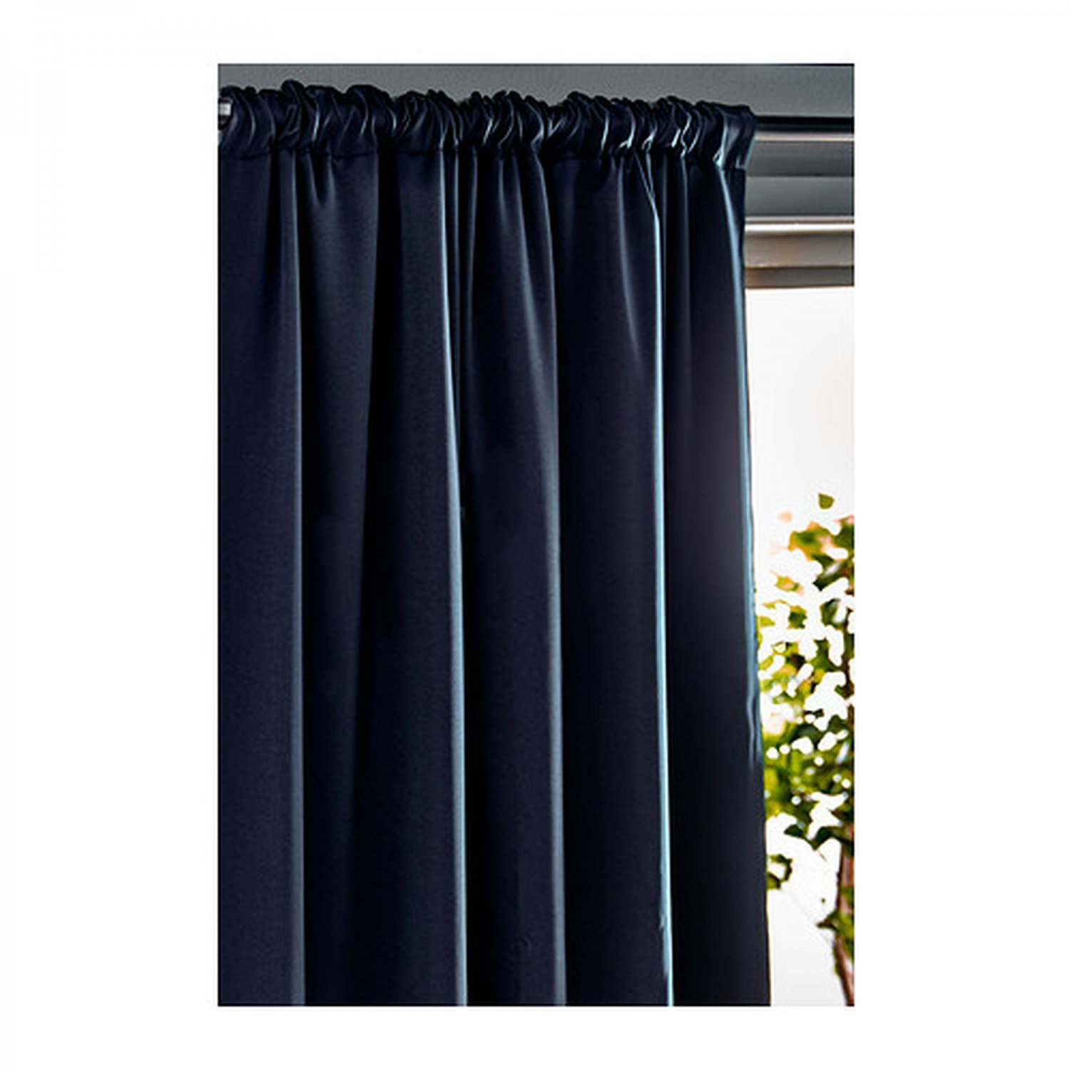 ikea werna curtains drapes 2 panels dark blue block out 98