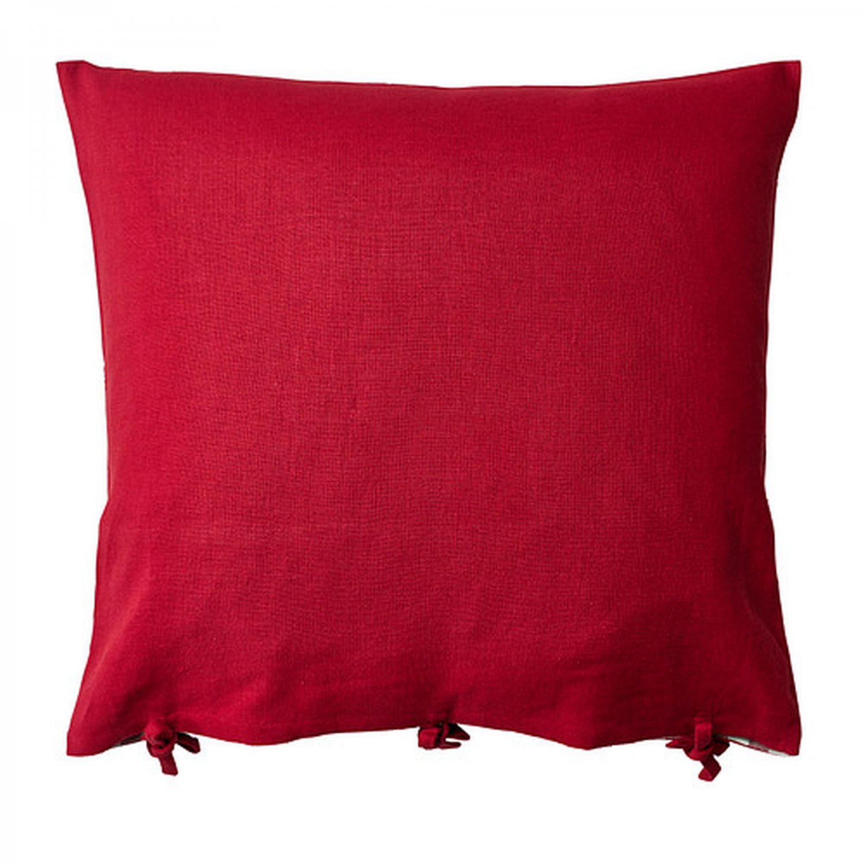 Ikea ursula cushion cover pillow sham ramie red 26quot x 26 for Ikea uk cushion covers