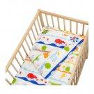 IKEA BARNSLIG DANS CRIB Animals Jungle Duvet COVER Pillowcase SET Nursery Bedding