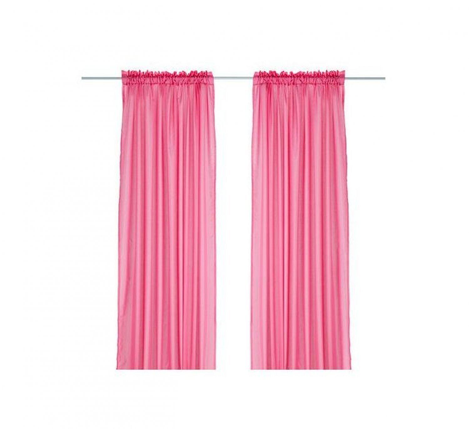 ikea vivan curtains drapes hot pink 2 panels cerise bright