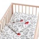 IKEA TASSA IGELKOTT CRIB Hedgehog Duvet COVER Pillowcase SET Nursery Bedding RED White